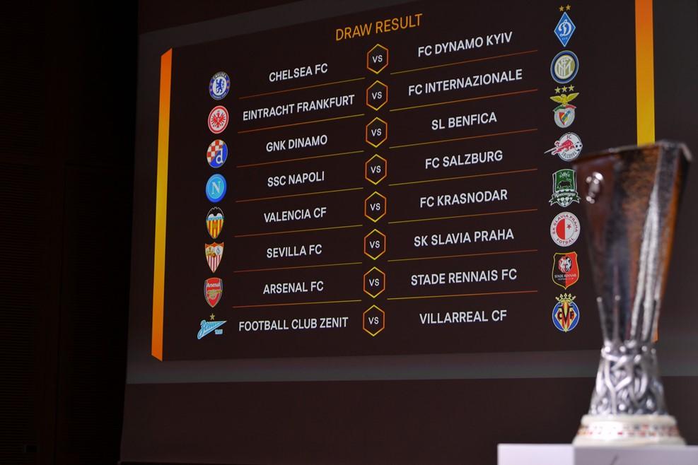 Ottavi di Finale Europa League, tabellone