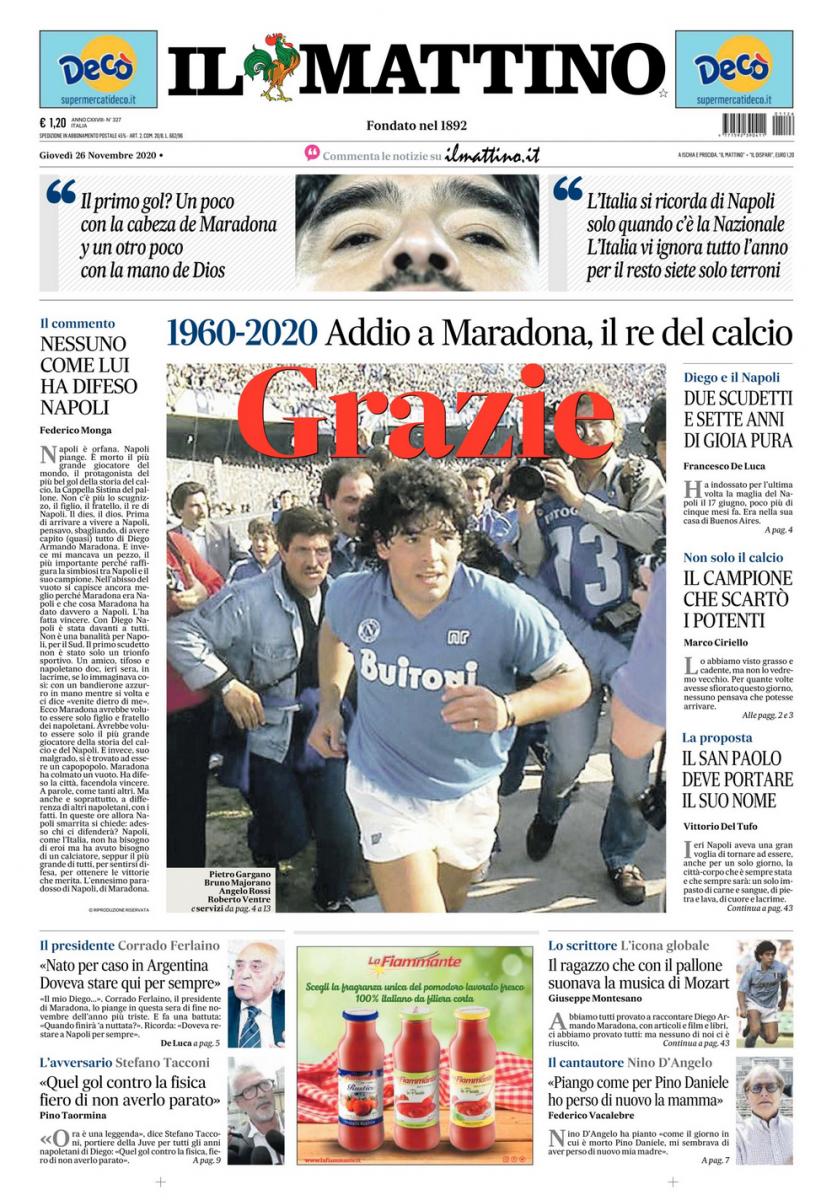 Prima Pagina Il Mattino   Il Mattino   Edicola   Prima Pagina   FOTO - calcionapoli24.it mobile