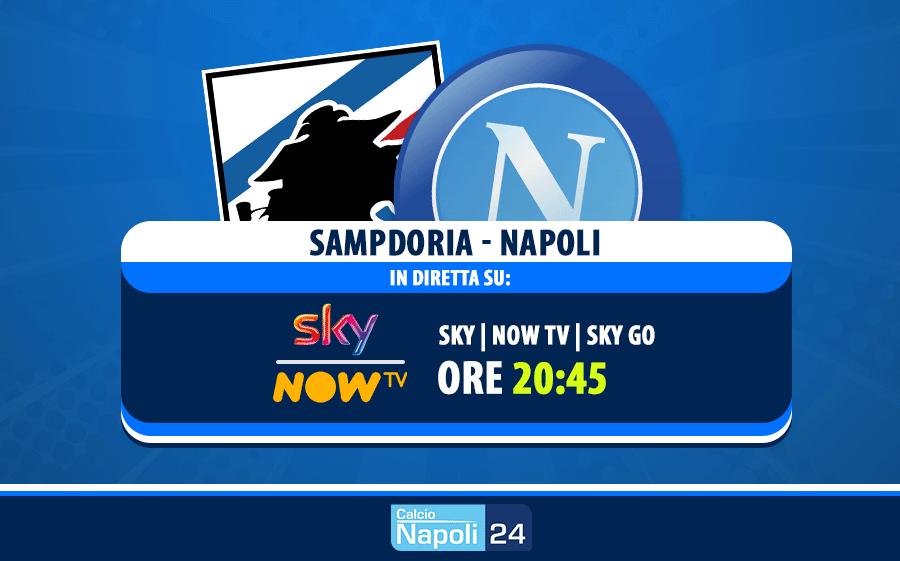 sampdoria - napoli in diretta su sky now tv