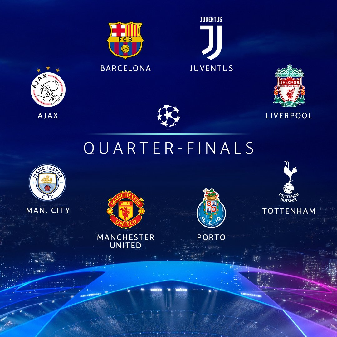 Sorteggio Champions League quarti 2019