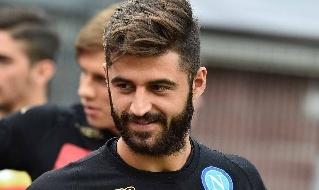 Sebastiano Luperto con la maglia del Napoli