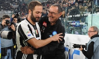 Gonzalo Higuain e Maurizio Sarri