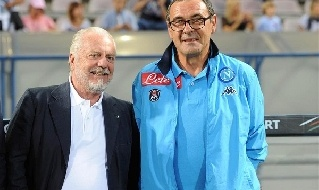 Maurizio Sarri e Aurelio De Laurentiis