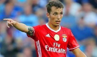 Grimaldo con la maglia del Benfica
