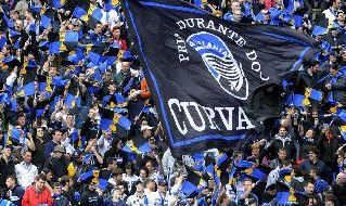 Tifosi dell'Atalanta all'Atleti Azzurri d'Italia