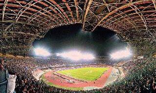 Stadio San Paolo visto dalla curva B