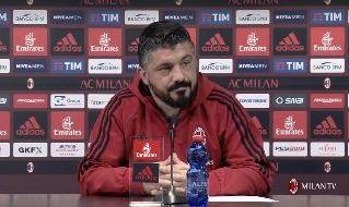 Rino Gattuso in conferenza stampa