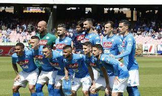 Squadra schierata per Napoli - Torino, Serie A