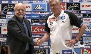 Carlo Ancelotti e Aurelio De Laurentiis in conferenza stampa