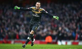 Ospina con la maglia dell'Arsenal