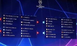 Champions League: i gironi completi