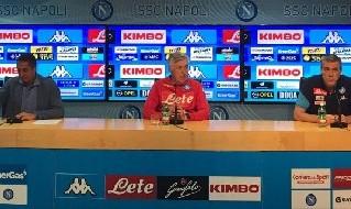 Carlo Ancelotti, allenatore del Napoli, in conferenza stampa