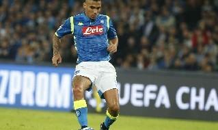 Allan con la maglia del Napoli
