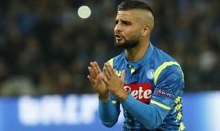 Lorenzo Insigne con la maglia del Napoli