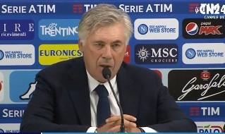 Carlo Ancelotti in conferenza stampa