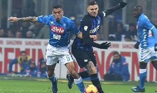 Mauro Icardi in Inter-Napoli