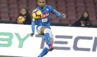 Lorenzo Insigne in azione con la maglia del Napoli