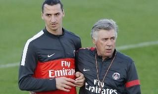Zlatan Ibrahimovic e Carlo Ancelotti