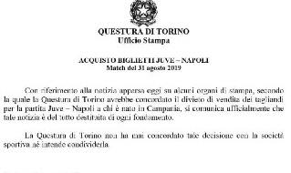 Questura Torino Juventus-Napoli