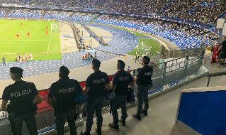 Polizia allo stadio San Paolo