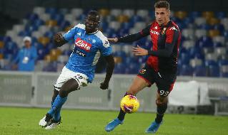Koulibaly contro il Genoa