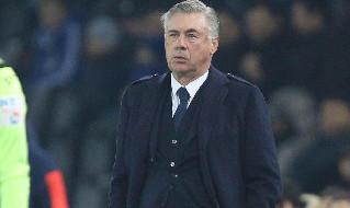 Carlo Ancelotti, ex allenatore del Napoli attualmente all'Everton