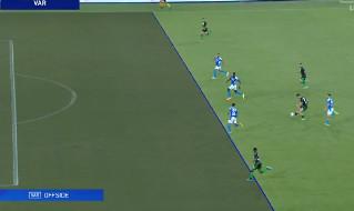 Napoli-Sassuolo, gol annullato a Djuricic dal VAR