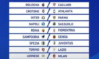 Prossimo turno Serie A