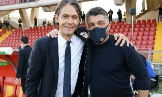 Napoli-Benevento, Inzaghi e Gattuso in foto