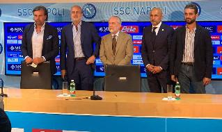 De Laurentiis, Spalletti, Chiavelli, Giuntoli, Edoardo de Laurentiis